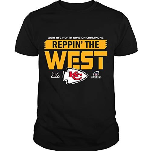 2018 AFC North Division Champions T Shirt, AFC North T Shirt, Kansas City Chiefs Shirt Unisex (L,Black)