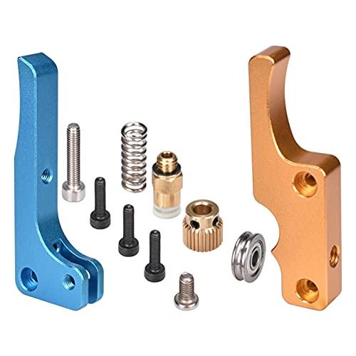 Durable 3D Printer Parts MK8 Extruder Upgrade Full Metal Blue-Gloden Color for Delta/for Kossel/for Reprap for Mendel /I3 3D Printer Office Supplies