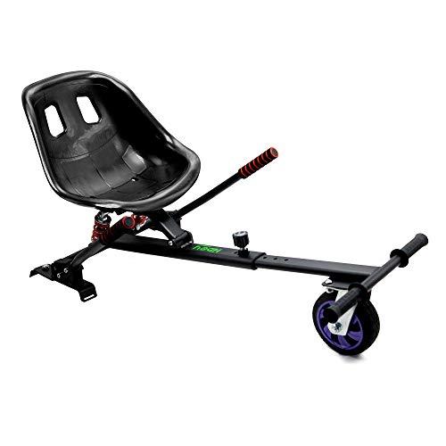 Hiboy Kart-0105 Asiento Kart Pro, Silla de Hoverboard Todoterreno con suspensiones Self Balancing Compatible con Todos los Patinetes Eléctricos DE 6.5, 8 y 10 Pulgadas, Negro, Niños, Aplica ✅