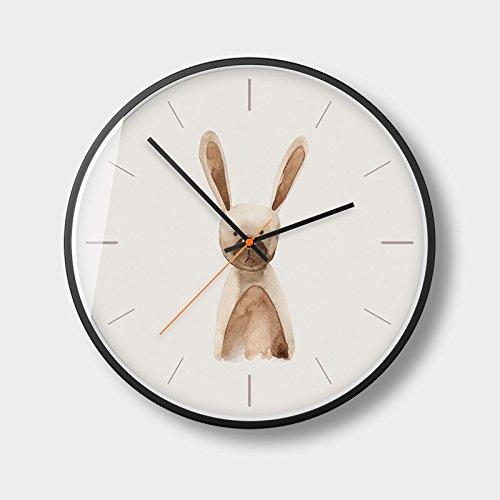 ERCZYO 14 Pulgadas 35 CM IKEA Moderno Minimalista Reloj de Pared Mudo Sala de Estar Dormitorio Creativo Reloj nórdico Reloj Colgante Mesa O37 (Size : 12A)