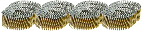 BOSTITCH Siding Nails, Wire Collated Coil, Thickcoat Galvanized, Ring Shank, 15-Degree, 2-Inch x 0.090-Inch, 3600-Pack (C6R90BDG)