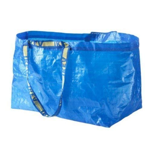 Ikea - 2 bolsas grandes Frakta azul – Ideal para la compra, la colada y el almacenamiento