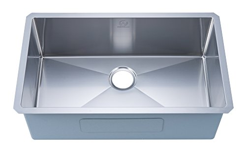 Stufurhome NW-3018S-18 Stainless Steel 30 Inches Undermount 18 Gauge 30 in. Single Bowl Kitchen Sink