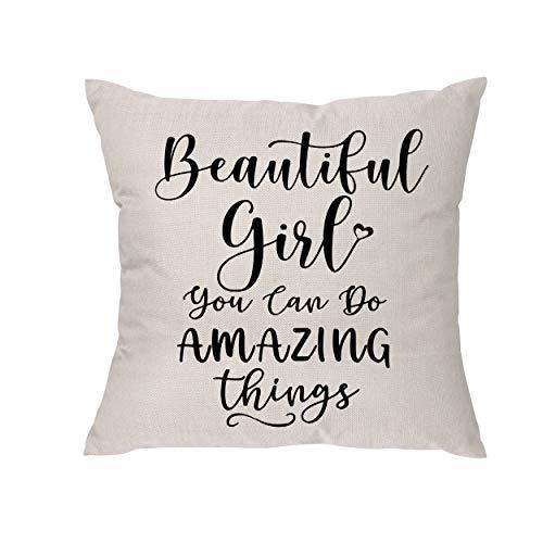 Beautiful Girl You Can Do Amazing Things – Geschenke für Mädchen und Frauen – lustige Ermutigung, Geburtstagsgeschenke für Freundin Tochter Teenager Kinder Ehefrau Kollegen – Beste Freundin