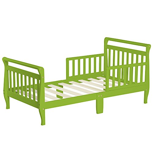 Dream On Me Sleigh Toddler Bed, Lime Green, 24 Pound