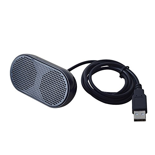USHONK USB Mini Speaker Computer Speaker Powered Stereo Multimedia Speaker for Notebook Laptop PC(Black)