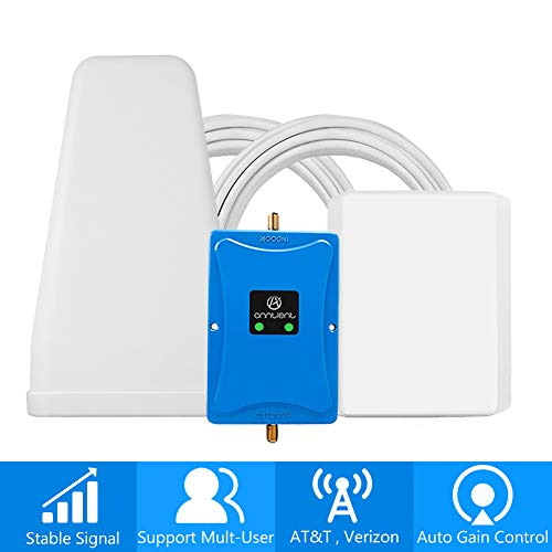 Cell Phone Signal Booster for Verizon AT&T T-Mobile 4G LTE - Dual 700MHz Band 12/13/17 Cellular Repeater Amplifier Kit Boosts Mobile Data Signal for Home and Office Up to 5,000Sq Ft Area