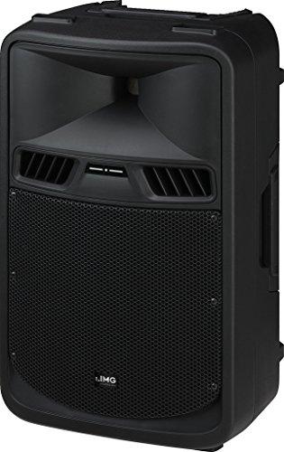 IMG STAGELINE PAK-410 Aktive Power-PA-Lautsprecherbox mit 2-Kanal-Verstärker, 300 W schwarz
