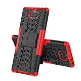MRSTER Sony Xperia 10 Plus Case, Tyre Pattern Design Heavy