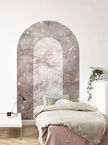 Komar Carta da parati in tessuto non tessuto, autoadesiva, motivo: Mauve Diamond, dimensioni: 127 x 200 cm (larghezza x altezza), per camera da letto, soggiorno, marmo, pietra