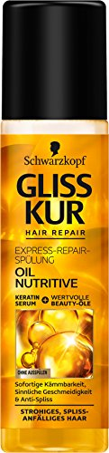 SCHWARZKOPF GLISS KUR Express-Repair-Spülung Oil Nutritive, 6er Pack (6 x 200 ml)