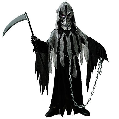 SEA HARE Dunkles Geist-Halloween-Kostüm für Jungen (M :7-9 Jahre)