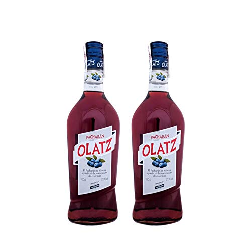 Licor Pacharan Olatz de 1L - Elaborado en Navarra - Bardinet (Pack de 2 botellas)