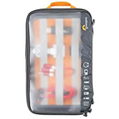 Lowepro GearUp Case - 2-Sided Organizer Panel - Lowepro Lifetime Warranty Fits: Compact point-and-shoot camerasPortable hard drivesHeadphonesBatteries and chargersLaptop power supplyAdapters, cords, cables and accessories Carrying Method: Carrying Ha...