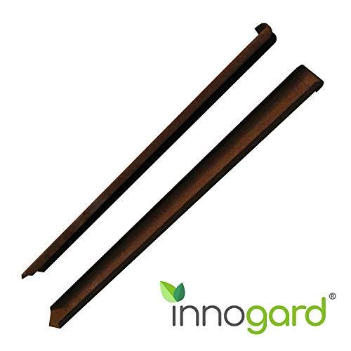 innogard Fixieranker, Erdanker aus Corten für Rasenkanten und Rasenkantenband 45 cm