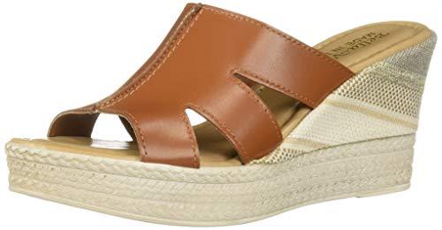 Bella Vita Women's Bella Vita Rox-Italy slide sandal Shoe, Whiskey Italian leather, 10 M US