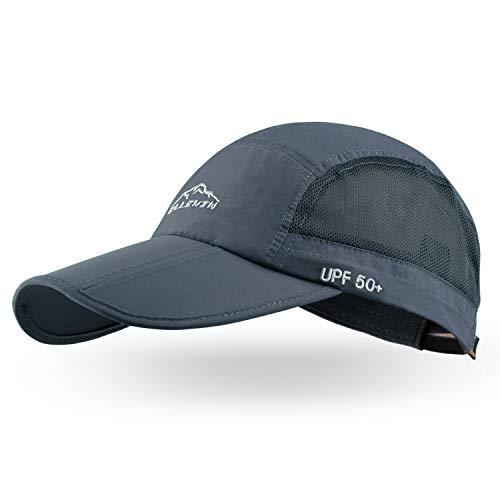 ELLEWIN Gorra de béisbol unisex UPF 50 sin estructura con factura larga plegable - - Medium / Large