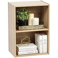 Iris Ohyama Cube Bookcase CX-2 Muebles de Almacenamiento 2 nichos/Estantería 2 repisas de Madera CX-2-Roble Claro, 41.5 x 29 x 59.5 cm, MDF, Beige