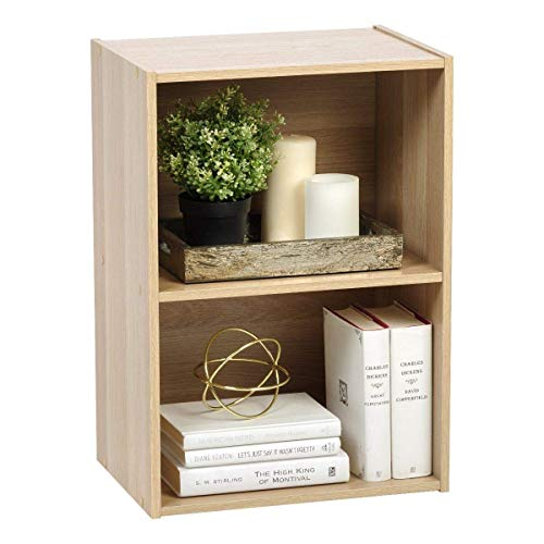 Marca Amazon - Movian Estantería 2 compartimentos de madera MDF, 41.5 x 29 x 59.5 cm, Beige (Roble Claro)