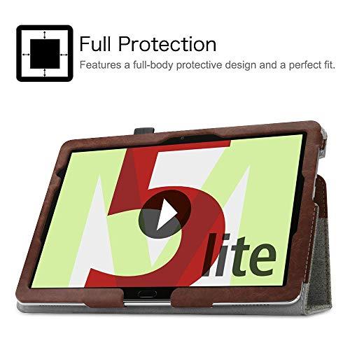 Fintie Hülle Case für Huawei MediaPad M5 Lite 10 - Ultra Schlank Folio Stoff Schutzhülle mit Auto Sleep/Wake Funktion für Huawei MediaPad M5 Lite 10 10.1 Zoll 2018 Tablet PC, Denim grau - 5
