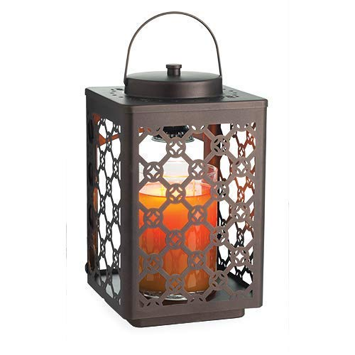 CANDLE WARMERS ETC Garden Candle Warmer Lantern for Top-Down Candle Melting, Oil Rubbed Bronze