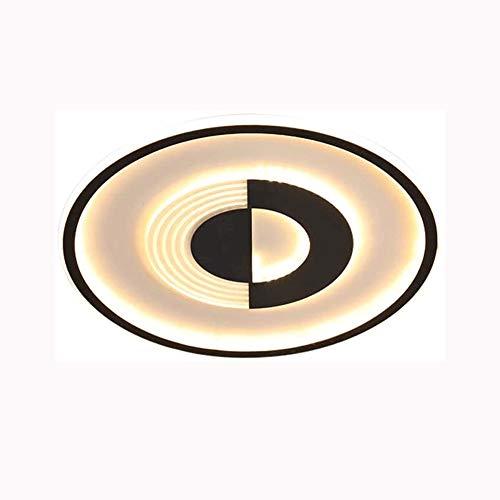 ZHANGL Lámpara de techo regulable LED Minimalista Nordic Diseño circular moderno Lámpara de techo de la sala de estar (con control remoto) 3000K-6000K 76W  Lámpara de techo interior de aluminio de 50