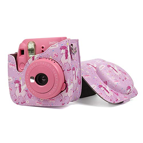 Jinshen - Funda Protectora para cámara Fujifilm Instax Mini 8 Mini8+ Mini9, Color Rosa