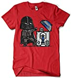 209-Camiseta Robotictrashcan (L, Rojo)