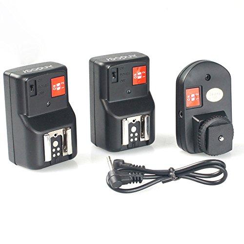 Andoer PT-04GY Disparador de Flash Flash Trigger Universal 4 Canales Control Remoto de Radio inalámbrica Speedlite 1 transmisor y 2 Receptores para Canon Nikon Pentax Olympus, etc (4 Canales)