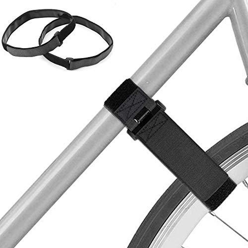 Bemodst - Set di 2 cinghie per portabici stabilizzanti per fissare le ruote della bicicletta per ruotare, legare sci, mini pompe e tappetini per yoga