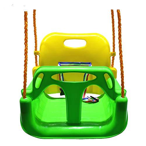 BBCare 3 en 1 asiento columpio para parque infantil, columpio de bebés a adolescentes (verde)