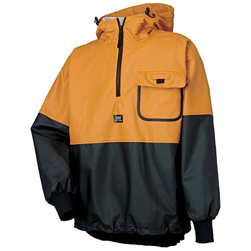Helly Hansen Work Wear Roan Waterproof PU Coated Anorak,Ochre/Black,XX-Large