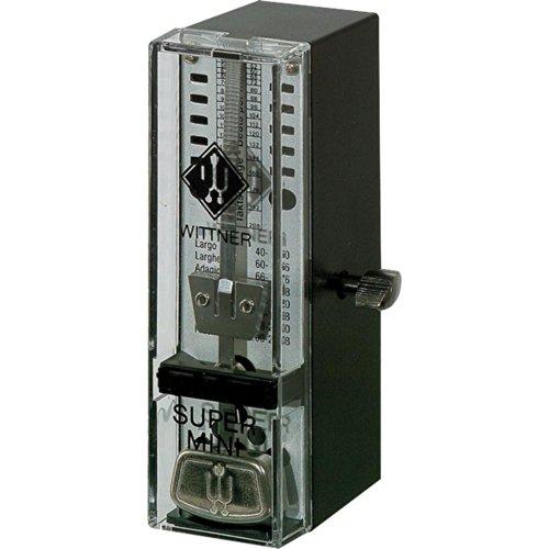 Wittner Taktell Super Mini Metronom Kunststoffgehäuse ohne Glocke schwarz