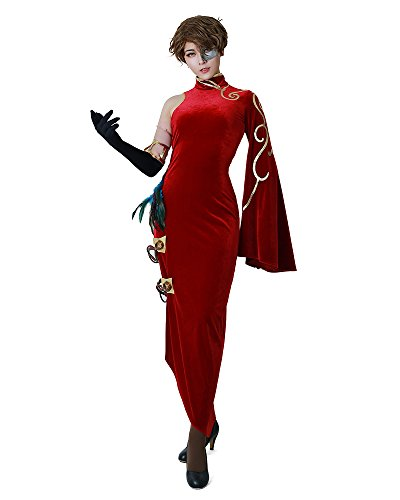miccostumes Volume 4 Cinder Fall Cosplay Cheongsam Costume (Women s) Red
