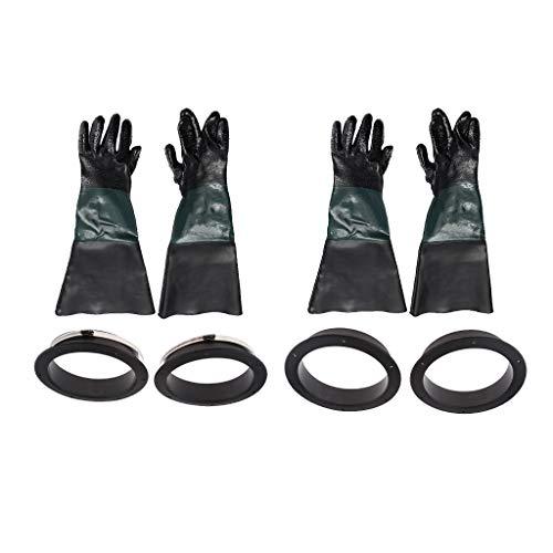 HomeDecTime 2 Paar Sandstrahlhandschuhe Als Ersatz Für Die Sicherheitsarbeit Mit 4