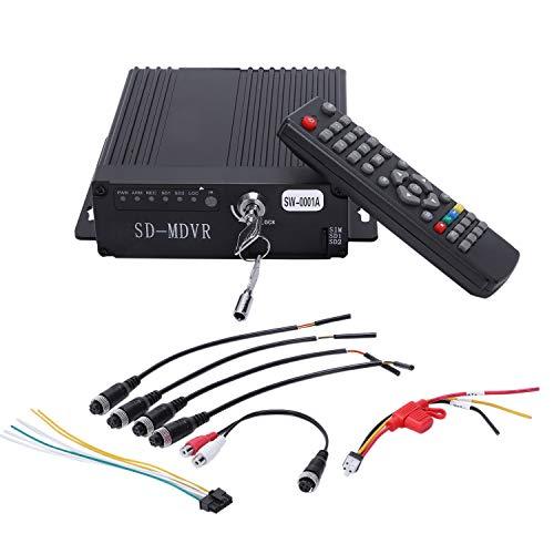 TOOGOO Dvr 4Ch Realtime Car Mobile Dvr Videoregistratore per Auto Videocamera per Auto Macchina Fotografica Registratore di Guida Telecomando
