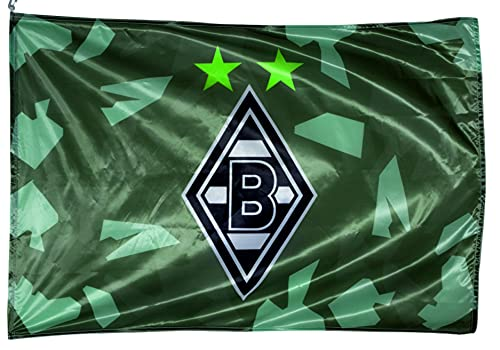 VFL Borussia Mönchengladbach 19687 Borussia Mönchengladbach-Fohlenelf-Artikel-Hissfahne Away-150 x 100cm-Saison 2021/2022, Polyester