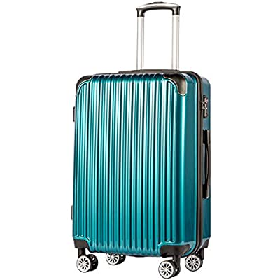 """Coolife Luggage Expandable(only 28"""") Suitcase PC+ABS Spinner 20in 24in 28in Carry on"""