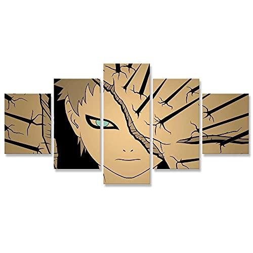 WHYQZ Cuadro sobre Impresión Lienzo 5 Piezas De Arte De Pared Papel de Anime de Japón Cuadro sobre Lienzo 5 Piezas HD Arte De Pared Modulares Sala De Estar Dormitorios DecoracióN