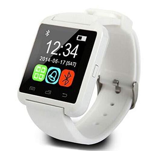 Wsaman Reloj Deportivo Smartwatch Pulsera Rastreador de Actividad Fitness Tracker Pantalla Color Táctil Reloj Inteligente Impermeable IP67 con Monitor de Sueño para Android/iOS/Hombre/Mujer,Blanco