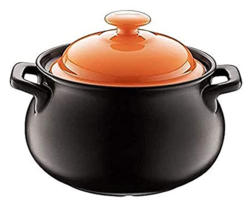 Casserole Dishes with Lids Casserole Pot Ceramic Cookware Non-Stick Pan Casserole Dish for Cooking - Good Thermal Insulation, Delicious Nutrition, for Dishwasher Orange