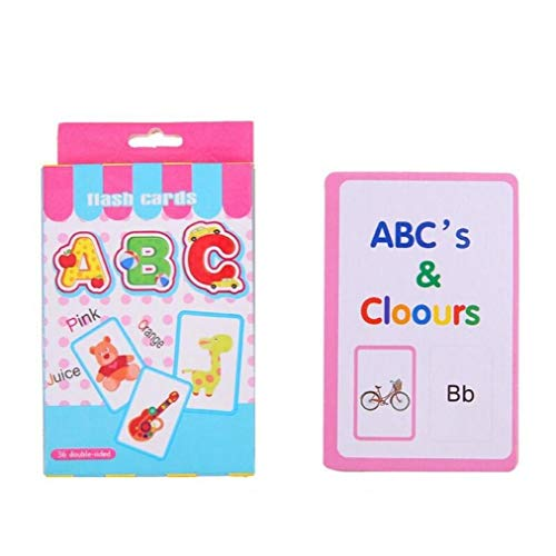 Case Cover 36pcs Handgeschriebene Alphabet-Flash-Speicherkarte Anzahl Spielzeug für Kinder frühen pädagogischen Spielzeug-Kind-Geschenk-Zahl-Karten für Kleinkinder