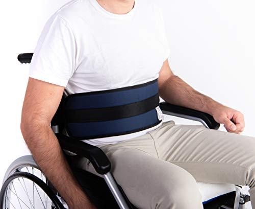 OrtoPrime Cinturón Abdominal de Seguridad Confort para Silla de Ruedas o Silla Geriátrica - Alta Protección Anti-Caídas (Talla Universal Ajustable) 🔥