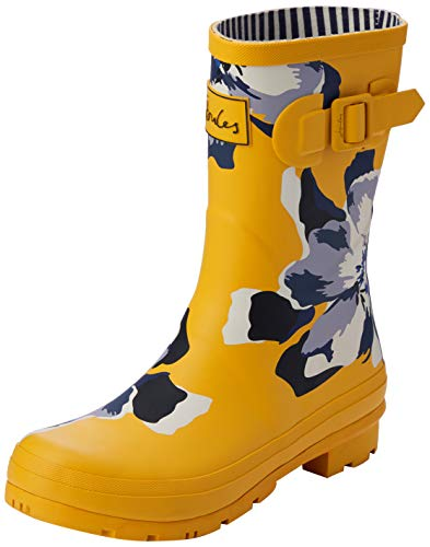 Tom Joule Damen Molly Welly Gummistiefel, Gold (Gold Floral Gld Floral), 38 EU