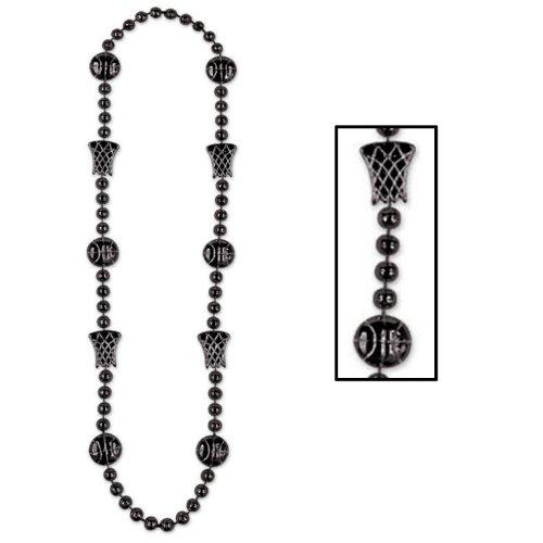 Beistle Basketball Perlen One-Size schwarz
