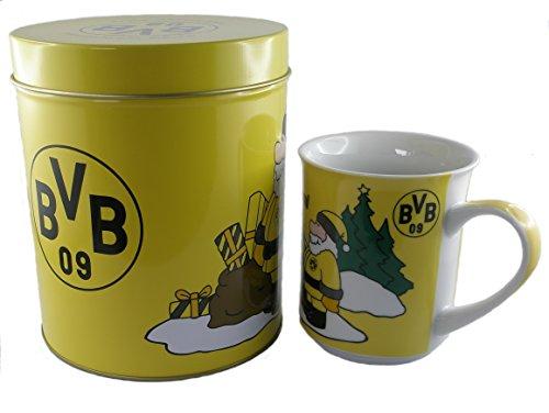 Brauns Borussia Dortmund Weihnachtstasse In Dose BVB, schwarz-gelb, 15193