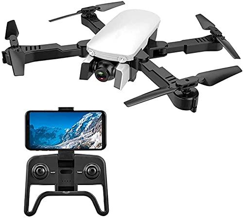 rzoizwko Drone, Drones Drone de fotografía aérea Plegable, Cámara Dual 4k de Ultra Alta definición, Avión de Juguete con Control Remoto, Flujo óptico de Altura Fija, Quadcopter con Mochila