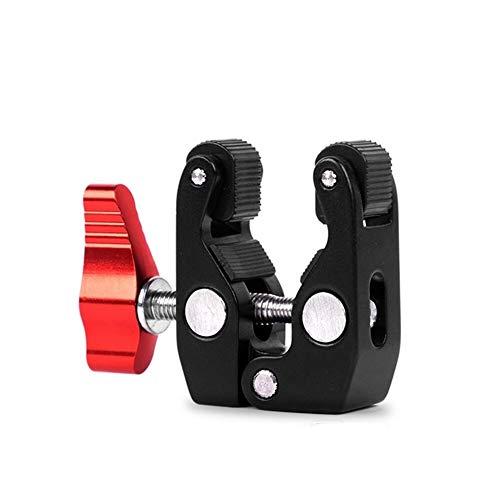 Titular de la lente de la cámara Adaptador de montaje en el brazo mágico y la fricción brazo mágico Súper cangrejo de la abrazadera de articulación Alicates de Clip for monitor de luces LED Trípode pa