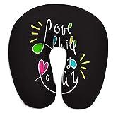El Amor en Forma de U Redonda encontrará la Manera de Inspirar Cita Motivacional Dibujado a Mano Letras Hermosas Imprimir Cartel Inspirador Amor
