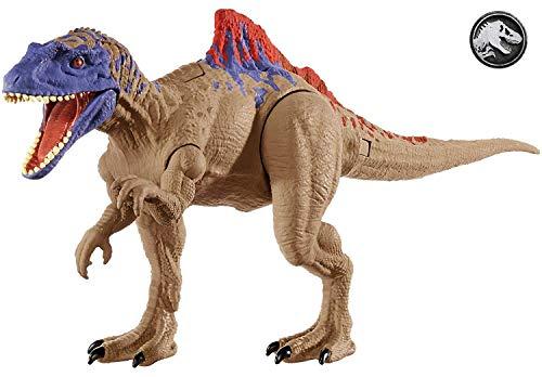 Jurassic World Mega Ataque Doble, Quetzalcoatlus, dinosaurio de juguete (Mattel GFG79)